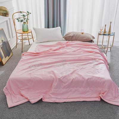 50莫代尔绣花夏被 200X230cm  3.0斤 粉色