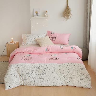 棉花冬被 150x200cm  5斤 草莓派