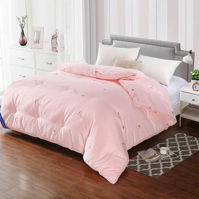 七孔蚕丝被 220x240cm  8.5斤 粉色