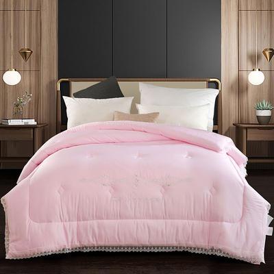 生命磁绣花被 200X230cm  7.5斤 粉色
