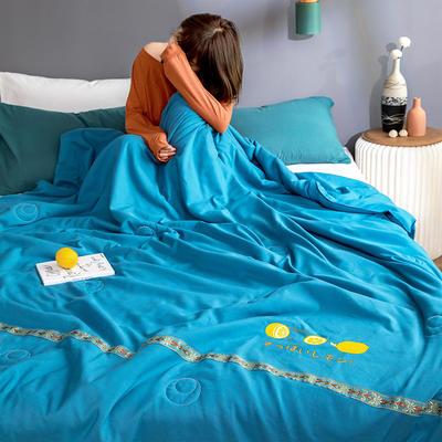 柠檬清香大豆被(含柠檬因子注剂) 180*220/ 2.4斤 冰海蓝