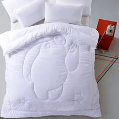 3D绗缝冬被 110x150cm 白色