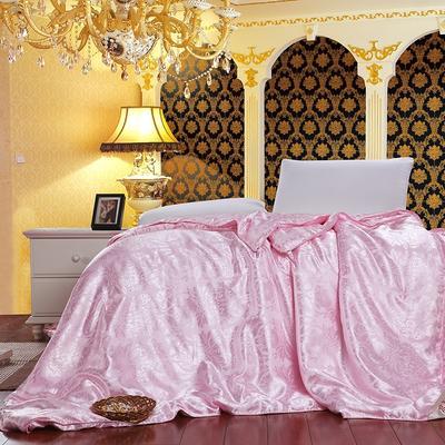 真丝提花子母被 150x200cm 粉色