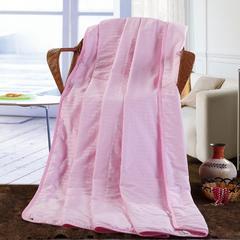 缎条蚕丝被 150x200cm 粉色