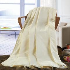 缎条蚕丝被 150x200cm 米黄色