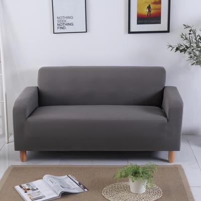 2020新款纯色沙发套 单人尺寸90-140cm 纯色 灰色