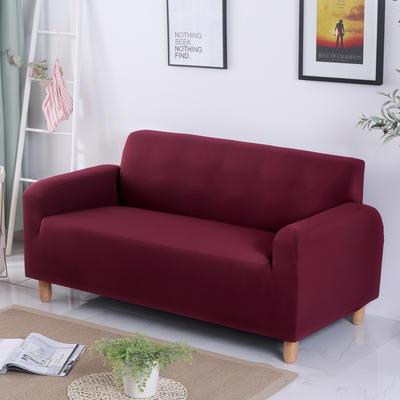 2020新款纯色沙发套 单人尺寸90-140cm 纯色 酒红
