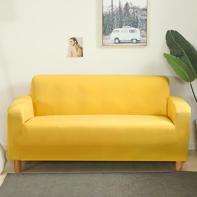 2020新款纯色沙发套 单人尺寸90-140cm 黄色
