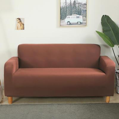 2020新款纯色沙发套 单人尺寸90-140cm 浅咖