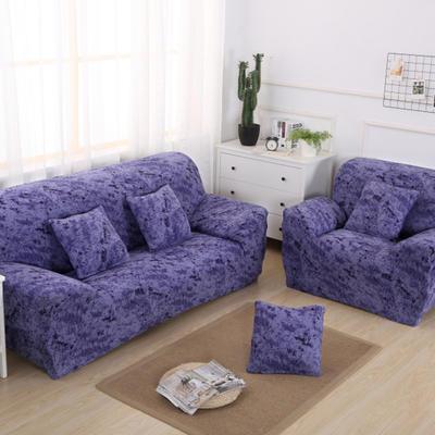 2020新款四季款 泼墨款 沙发套 单人尺寸90-140cm 泼墨 宝蓝