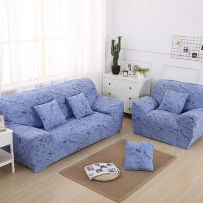 2020新款四季款 泼墨款 沙发套 单人尺寸90-140cm 泼墨 天蓝