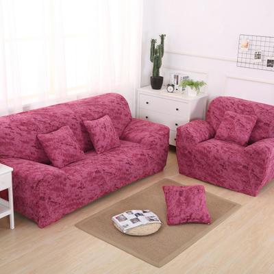 2020新款四季款 泼墨款 沙发套 单人尺寸90-140cm 泼墨 西瓜红