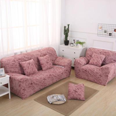 2020新款四季款 泼墨款 沙发套 单人尺寸90-140cm 泼墨 砖红