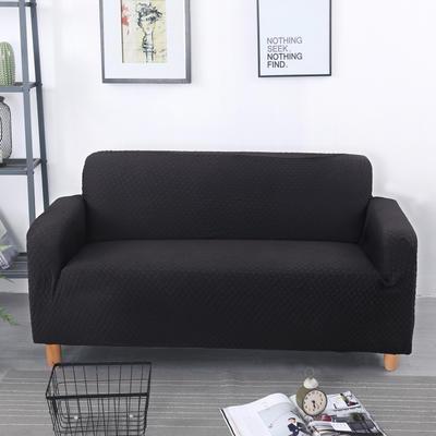 2020新款针织 提花沙发套 单人尺寸90-140cm 针织提花  黑色