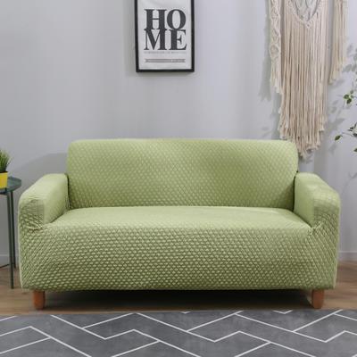 2020新款针织 提花沙发套 单人尺寸90-140cm 针织提花 浅绿