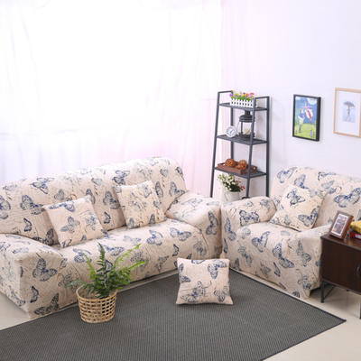 2020新款四季款印花沙发套 单人尺寸90-140cm 彩蝶