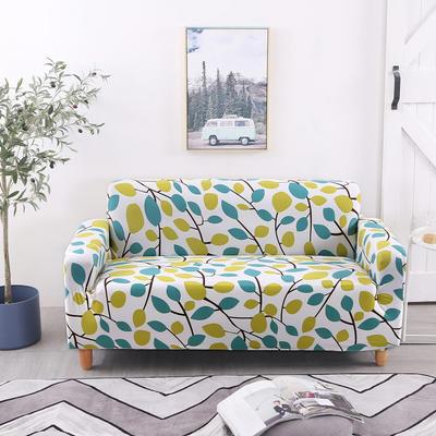2020新款四季款印花沙发套 单人尺寸90-140cm 绿叶