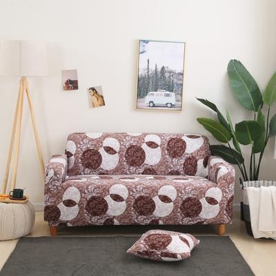 2020新款四季款印花沙发套 单人尺寸90-140cm 梦境-咖
