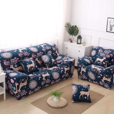 2020新款四季款印花沙发套 单人尺寸90-140cm 圣诞小鹿