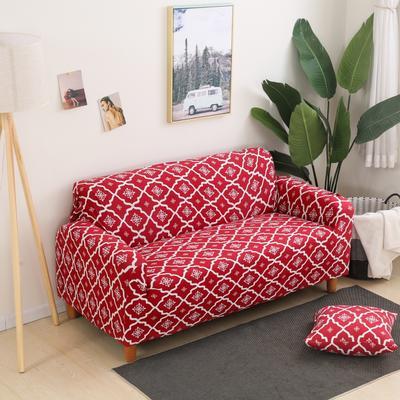 2020新款四季款印花沙发套 单人尺寸90-140cm 英伦 红