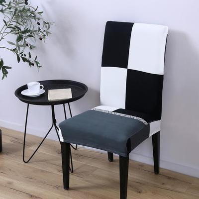 2020新款四季款印花椅套 黑白配