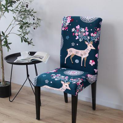 2020新款四季款印花椅套 圣诞小鹿