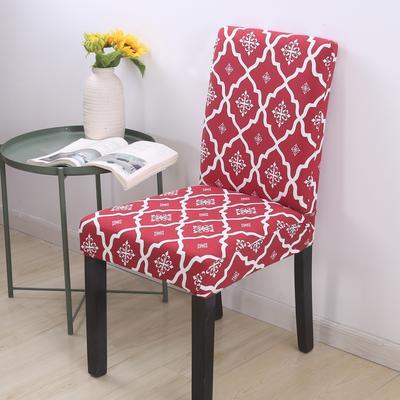2020新款四季款印花椅套 英伦 红