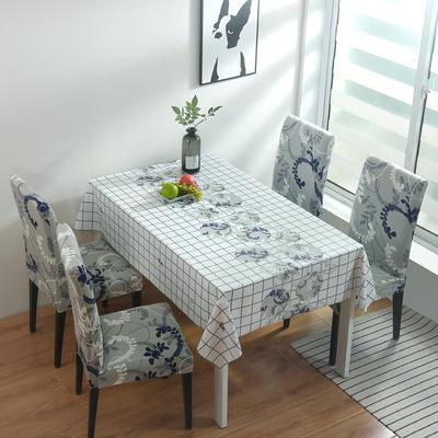 2020新款PwC防水桌布+ 印花椅套 130*130cm防水桌布 简约生活