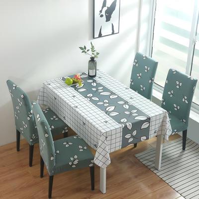2020新款PwC防水桌布+ 印花椅套 130*130cm防水桌布 小枫叶