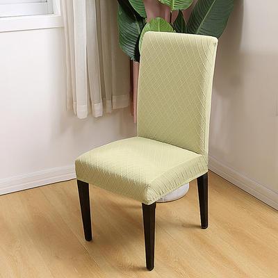 2020新款色织提花方格椅套 浅绿色