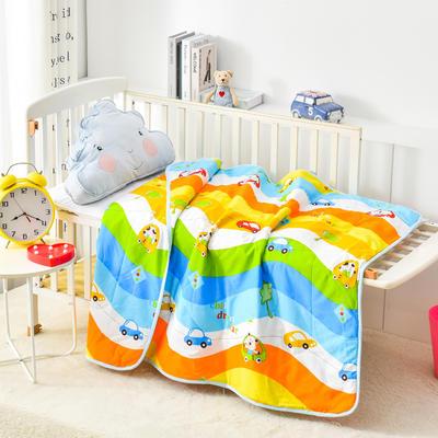 2021新款幼儿园专用夏凉被  全棉儿童空调被 纯棉卡通午休被 薄被子 一件代发批发 110x150cm 宝宝车手