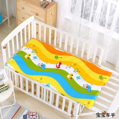 2021新款儿童卡通全棉床垫 幼儿园床垫芯 全棉面料 丝棉棉花床垫芯可定做 60*120硬质棉5cm 宝宝车手