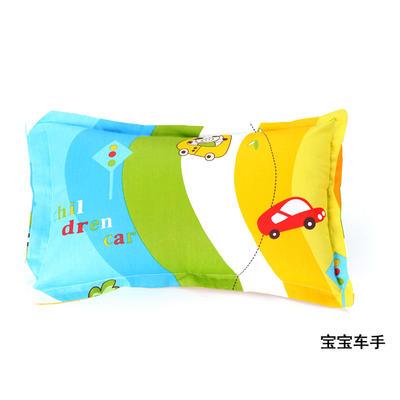2021新款 厂家直销 全棉面料枕套 幼儿园专用保健枕头 一件代发 批发 30*50cm/个 宝宝车手