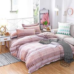 2017冬款超厚实保暖系立体雕花绒四件套床单被套枕套 伊莱恩 1.5m(5英尺)床 伊莱恩