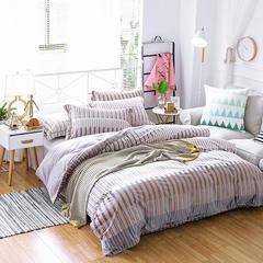 2017冬款超厚实保暖系立体雕花绒四件套床单被套枕套 图尔博 1.5m(5英尺)床 图尔博
