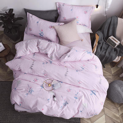 秘语家居2019春季全棉13374工艺款四件套 1.5m(5英尺)床 爱丽丝