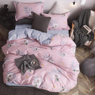 秘语家居2019春季全棉13374工艺款四件套 1.8m(6英尺)床 悦颜