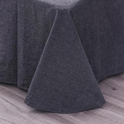 吉庭家居李现韩商言同款色织纯色绣花水洗棉四件套 1.5m(5英尺)床 深空灰