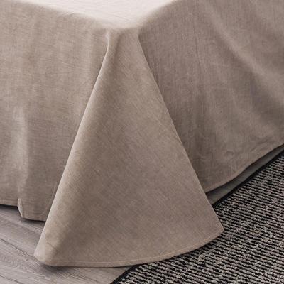 吉庭家居李现韩商言同款色织纯色绣花水洗棉四件套 2.0m(6.6英尺)床 绅士咖