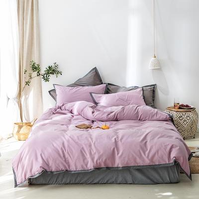 2020新款全棉四件套-醒来系列 1.5床单款四件套 醒来-丁香紫