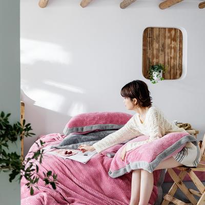 2020新款摩卡系列牛奶绒四件套 1.5m床单款四件套 摩卡-玫瑰粉