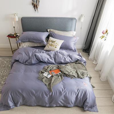 2020新款60s长绒棉四件套-小蜻蜓系列 1.5m床单款四件套 小蜻蜓--浅紫