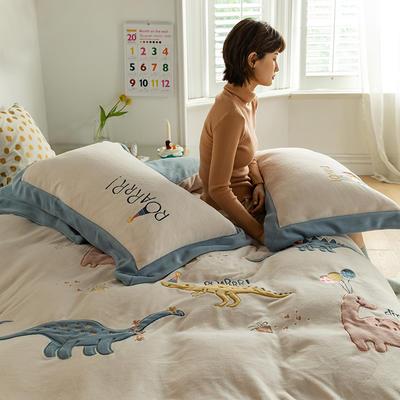 2020新款牛奶绒绣花系列四件套--小可爱系列棚拍 1.8m床单款四件套 小宝藏
