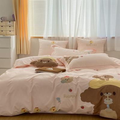 2021新款-40水洗棉四件套 1.2m(4英尺)床 baby 熊