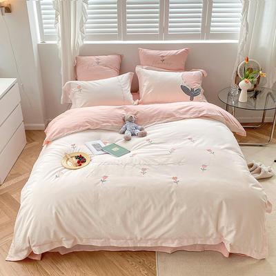 2021新款-40水洗棉四件套 1.8m(6英尺)床 小天真