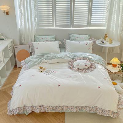 2021新款-40水洗棉四件套 1.8m(6英尺)床 小樱桃