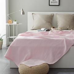 针织盖毯 140*190cm 桃花粉