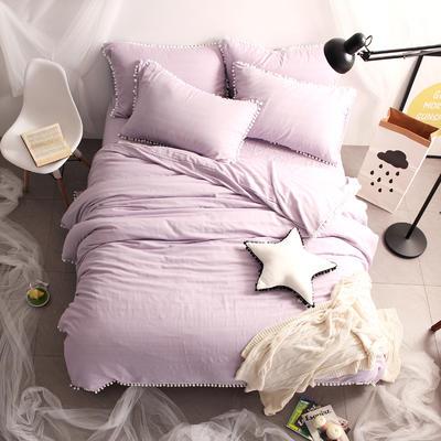 木槿紫 被套200*230,床笠150*200 木槿紫