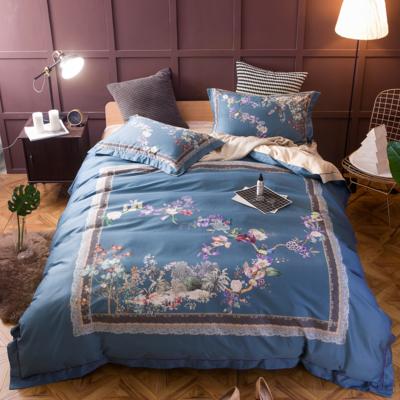 80全棉海岛棉数码印花----苏缇春晓 2.0m(6.6英尺)床 四件套
