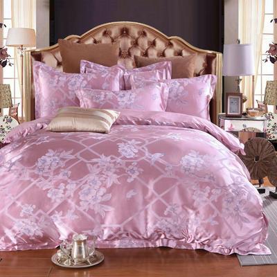 60高精密臻丝提花四件套 1.5m(5英尺)床 梳妆别影